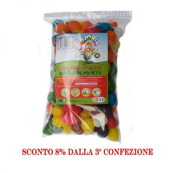 Giomais il vero mattoncino di mais colorato tutto italiano.