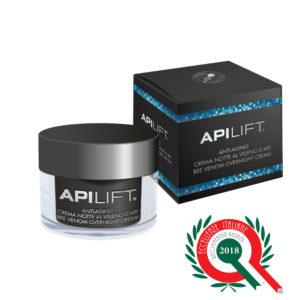 ApiLift crema notte anti aging con veleno d'api e acido ialuronico